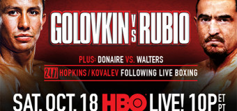 Super HBO Boxing Event On Tap: Golovkin vs Rubio and Donaire vs Walters on Saturday Night