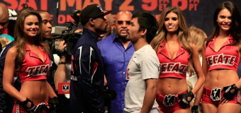 Mayweather vs Pacquiao Weigh Ins: Mayweather 146 lbs, Pacquiao 145lbs